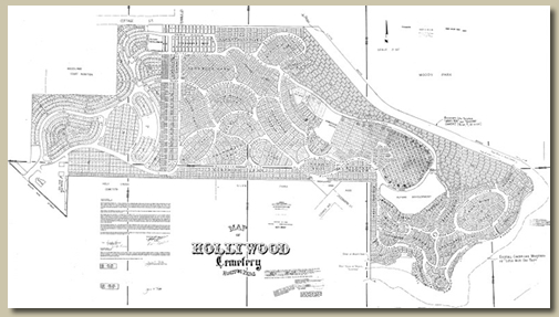 Map of Historic Hollywood Cemetery